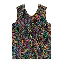 Trees Internet Multicolor Psychedelic Reddit Detailed Colors Men s Basketball Tank Top