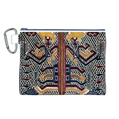 Traditional Batik Indonesia Pattern Canvas Cosmetic Bag (L)