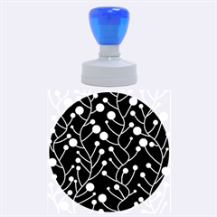 Blue decor Rubber Round Stamps (Large)