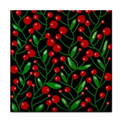 Red Christmas berries Tile Coasters