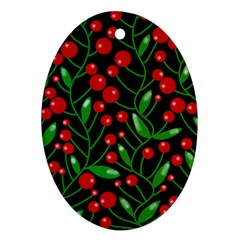 Red Christmas berries Ornament (Oval)