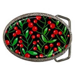 Red Christmas berries Belt Buckles