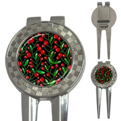 Red Christmas berries 3-in-1 Golf Divots