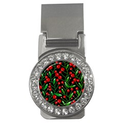 Red Christmas berries Money Clips (CZ)