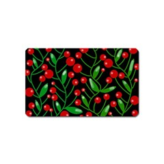 Red Christmas berries Magnet (Name Card)