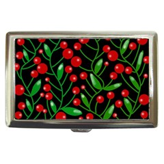 Red Christmas berries Cigarette Money Cases