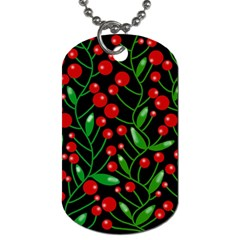 Red Christmas berries Dog Tag (Two Sides)