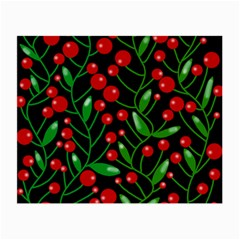 Red Christmas berries Small Glasses Cloth