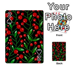 Red Christmas berries Playing Cards 54 Designs