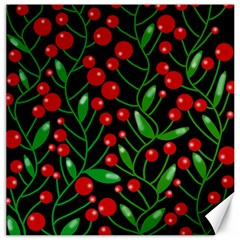 Red Christmas berries Canvas 12  x 12