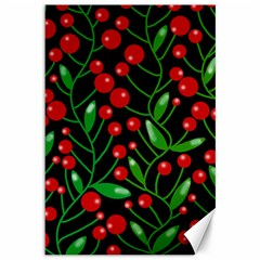 Red Christmas berries Canvas 12  x 18