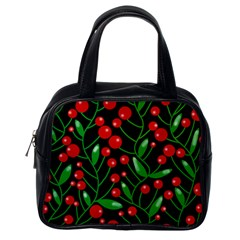 Red Christmas berries Classic Handbags (One Side)