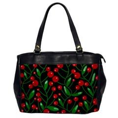 Red Christmas berries Office Handbags