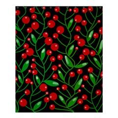 Red Christmas berries Shower Curtain 60  x 72  (Medium)