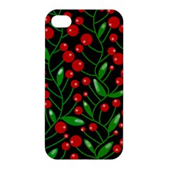 Red Christmas berries Apple iPhone 4/4S Hardshell Case