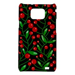 Red Christmas berries Samsung Galaxy S2 i9100 Hardshell Case