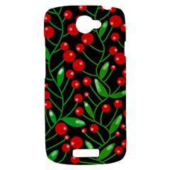Red Christmas berries HTC One S Hardshell Case