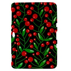 Red Christmas berries Samsung Galaxy Tab 8.9  P7300 Hardshell Case