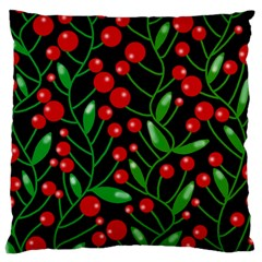 Red Christmas berries Large Cushion Case (Two Sides)