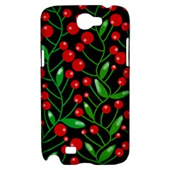 Red Christmas berries Samsung Galaxy Note 2 Hardshell Case