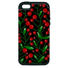 Red Christmas berries Apple iPhone 5 Hardshell Case (PC+Silicone)
