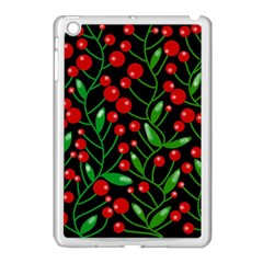 Red Christmas berries Apple iPad Mini Case (White)