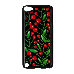 Red Christmas berries Apple iPod Touch 5 Case (Black)