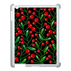 Red Christmas berries Apple iPad 3/4 Case (White)