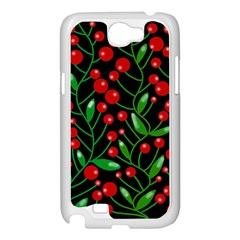 Red Christmas berries Samsung Galaxy Note 2 Case (White)
