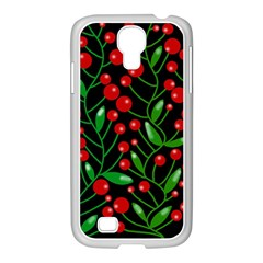 Red Christmas berries Samsung GALAXY S4 I9500/ I9505 Case (White)