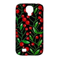 Red Christmas berries Samsung Galaxy S4 Classic Hardshell Case (PC+Silicone)