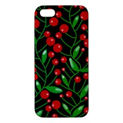 Red Christmas berries iPhone 5S/ SE Premium Hardshell Case