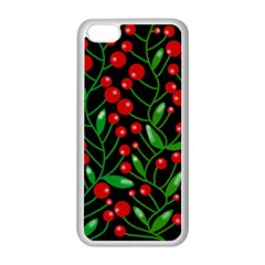Red Christmas berries Apple iPhone 5C Seamless Case (White)