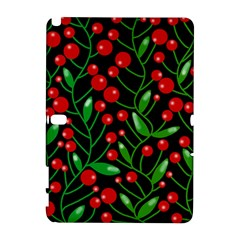 Red Christmas berries Samsung Galaxy Note 10.1 (P600) Hardshell Case