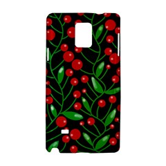 Red Christmas berries Samsung Galaxy Note 4 Hardshell Case