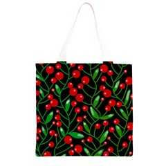 Red Christmas berries Grocery Light Tote Bag