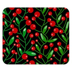 Red Christmas berries Double Sided Flano Blanket (Small)