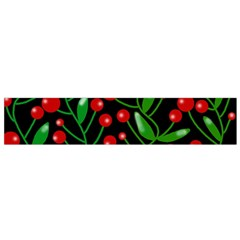 Red Christmas berries Flano Scarf (Small)