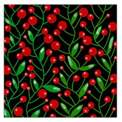 Red Christmas berries Large Satin Scarf (Square)