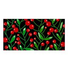 Red Christmas berries Satin Shawl