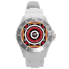 Toraja Pattern Pa barre Allo Round Plastic Sport Watch (L)
