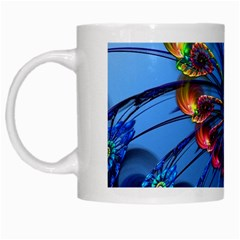 Top Peacock Feathers White Mugs