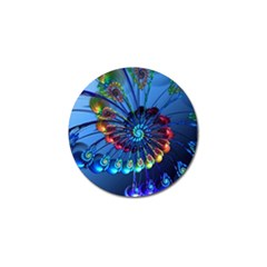 Top Peacock Feathers Golf Ball Marker