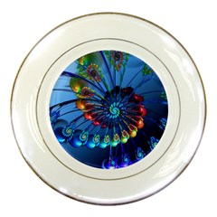 Top Peacock Feathers Porcelain Plates