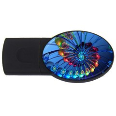 Top Peacock Feathers USB Flash Drive Oval (4 GB)