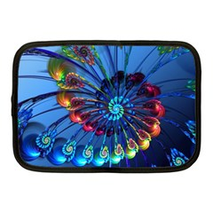 Top Peacock Feathers Netbook Case (Medium)