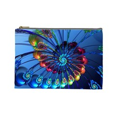 Top Peacock Feathers Cosmetic Bag (Large)