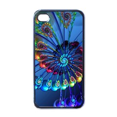 Top Peacock Feathers Apple iPhone 4 Case (Black)