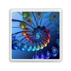 Top Peacock Feathers Memory Card Reader (Square)