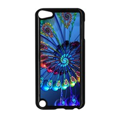 Top Peacock Feathers Apple iPod Touch 5 Case (Black)